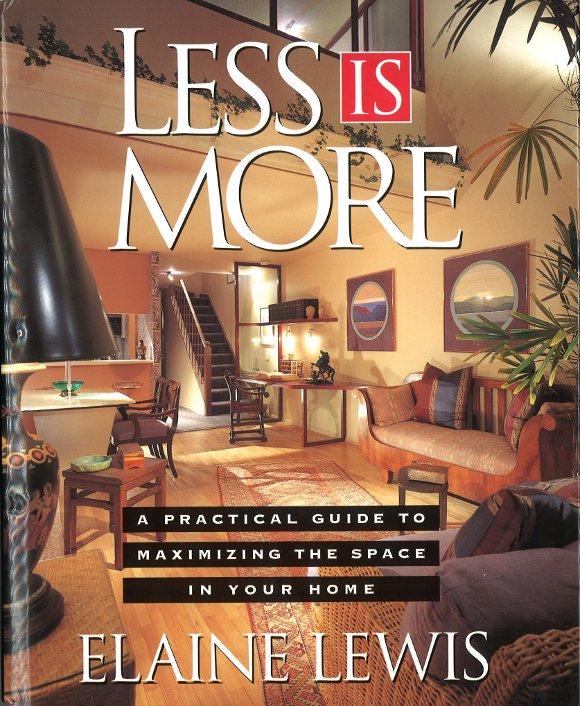 Book less is more by viking publication elaine lewis for Less is more boek
